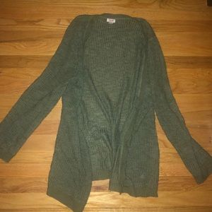 Green Cardigan Sweater